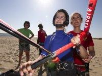 Aprendiendo kitesurf en Isla Canela