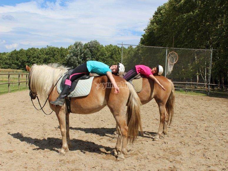 Abrazando a los caballos