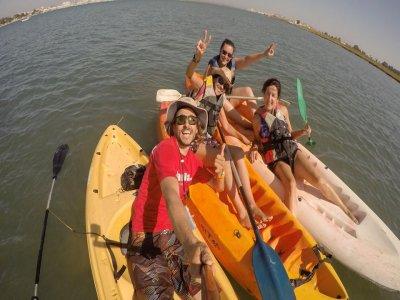 在Isla Canela Kayak 3h的瓜迪亚纳的下降