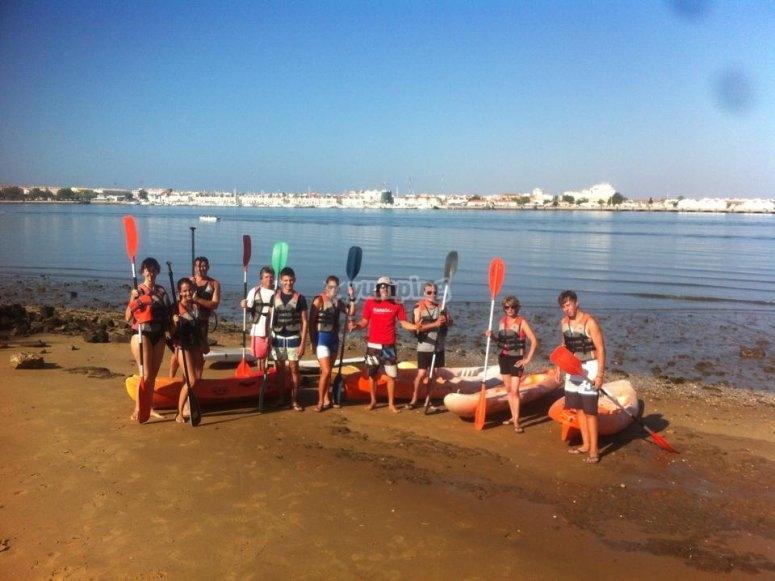 Preparando la travesía en Kayak por Ayamonte