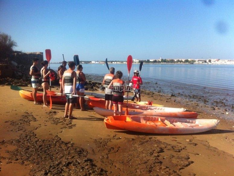 Travesía en kayak por Ayamonte