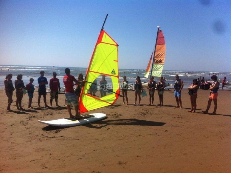 Windsurfing in Isla Canela