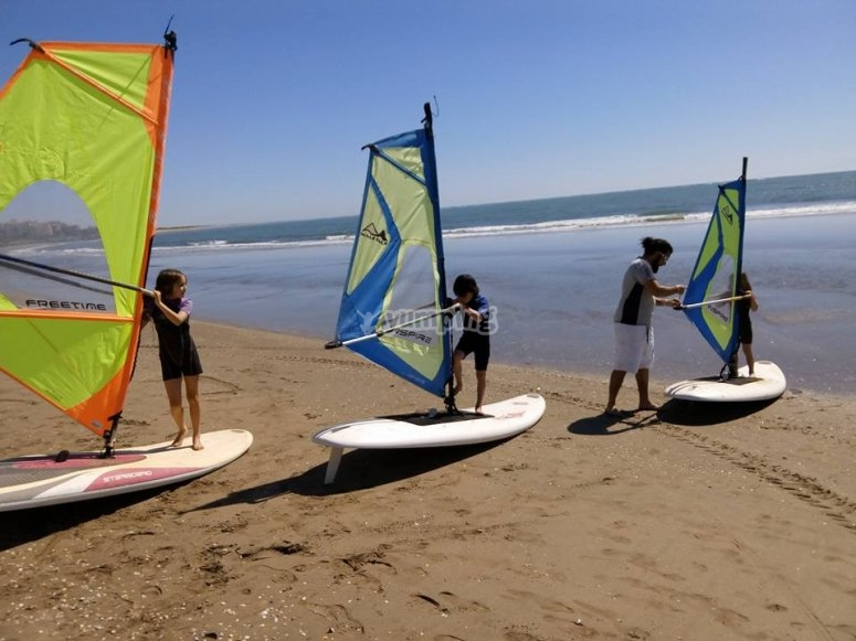 Tabla y vela avanzada de windsurf