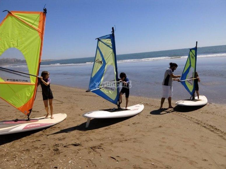 Curso de windsurf avanzado en Isla Canela