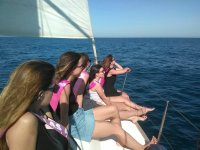 Private sailing boat trip in Barcelona 2h