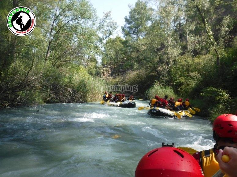 Rarfting en el río Guadalope