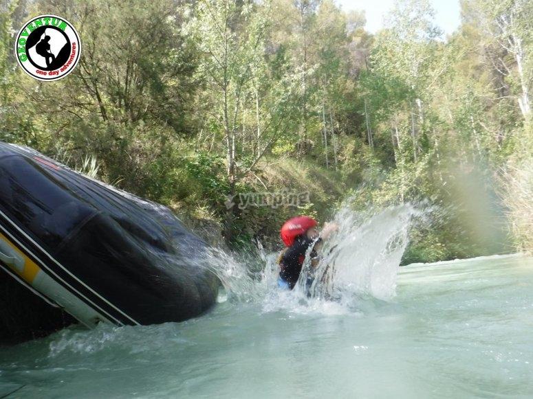Baño tras el rafting