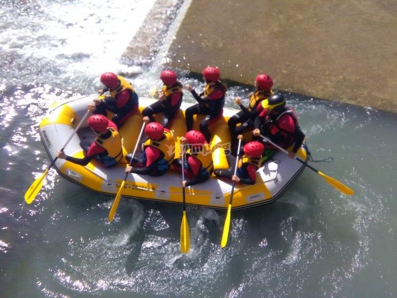 The rafting adventure begins