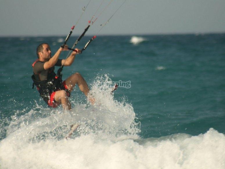 sesion kitesurf