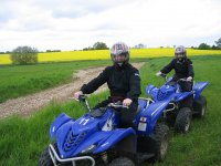 Driving a single-seater quad