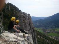 铁索攀岩在韦斯卡铁索攀岩练习