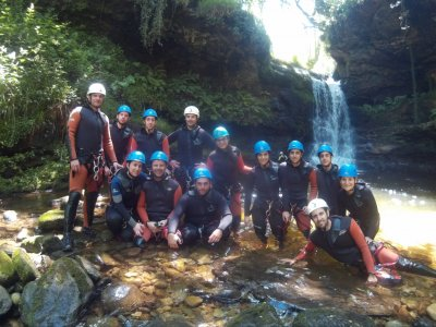 Pack canyoning or caving and canoeing in Santander