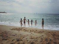 fuga sulla spiaggia