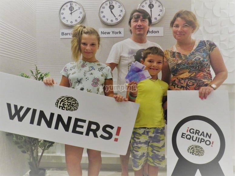 Los ganadores del atraco