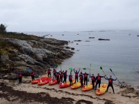 On the shore before the SUP route