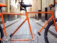 Las biciletas de color naranja