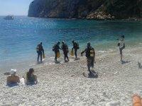 Buceo en cala de la costa valenciana