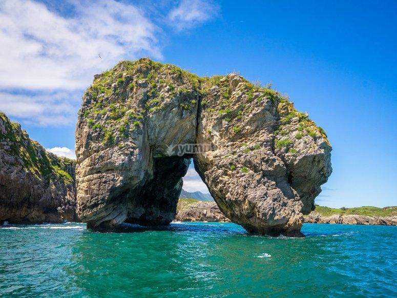 Roca en la costa