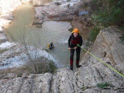 Riera del Carme的峡谷下降