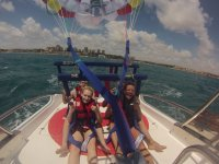 Platform in the parasailing boat