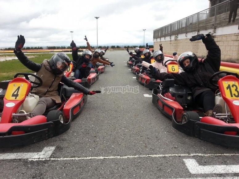 Karting abrigados