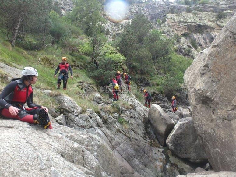 Climbing in Gorgues del Nuria