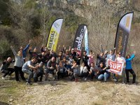 Photo of team after the day of canyoning