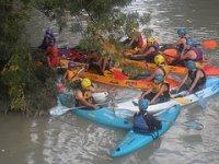 Many canoes