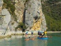 穿过韦斯卡比利牛斯山脉的划桨冲浪路线