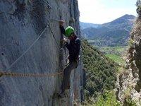 Via ferrata in the Argonian Pyrenees