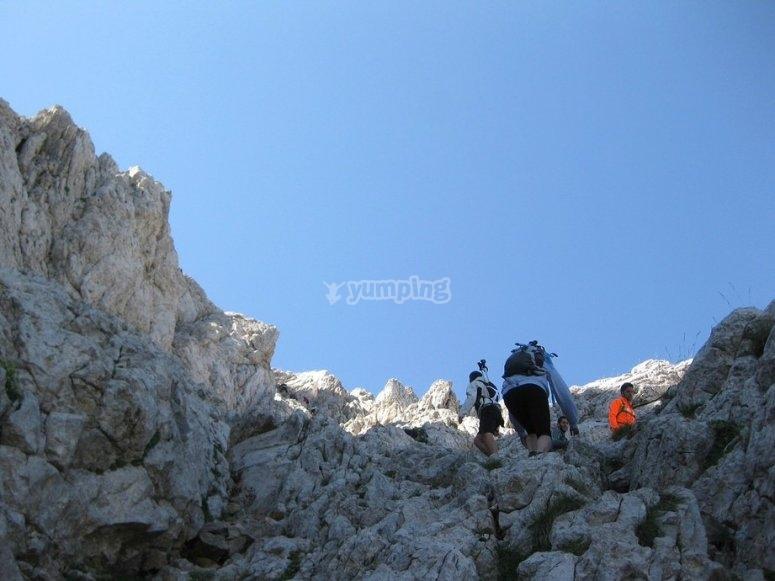 caminos de rocas