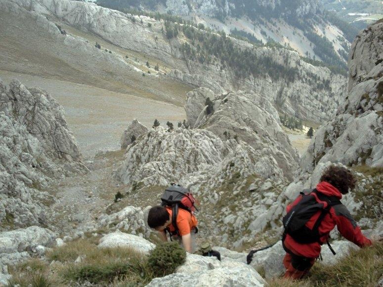 senderismo en la montana