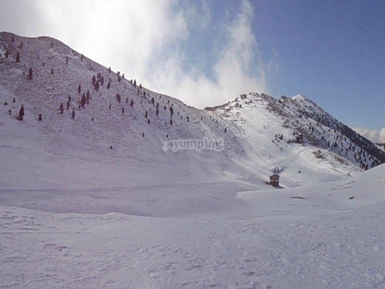 En el monte nevado