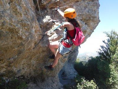 通过Ferrata先进的Cal Curt在Vallcebre 2-3h