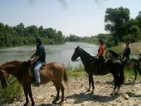 riding on the banks of the Ebro