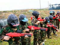 Ready to play paintball for children