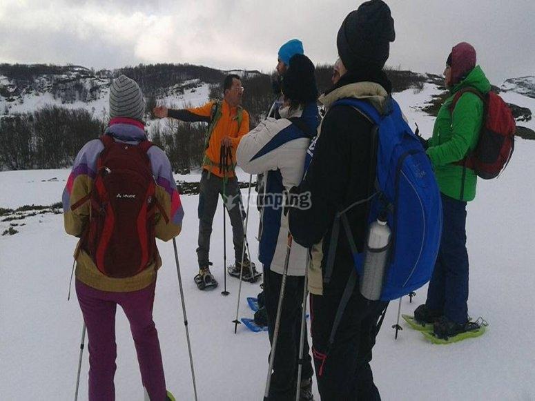 excursión en nuestras raquetas de nieve