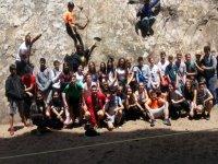 Día de escalada en el campamento