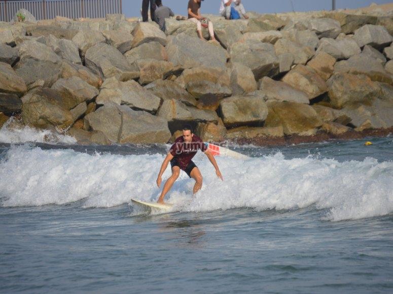 Surfeando en Barcelona