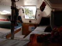 Interior de uno de los barcos