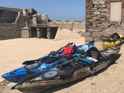 公司活动与皮划艇路线 Tarifa 2 小时