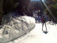 舒适的滑雪女子