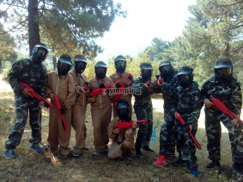Paintball activities for enterprises