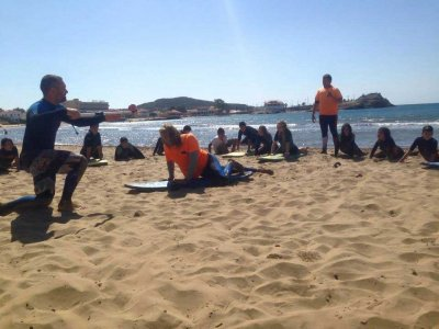 Kayak, surfing & SUP classes Mazarrón 1 month