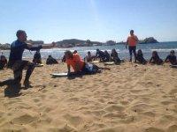 Ejercicios en la arena