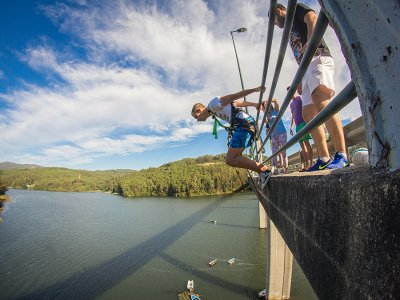 Bungee jumping with pictures in Noia
