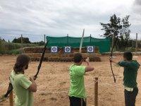 Sesión de tiro con arco en el Delta del Ebro