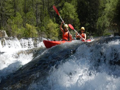 Canoeing in Rough Waters in the Alto Tajo