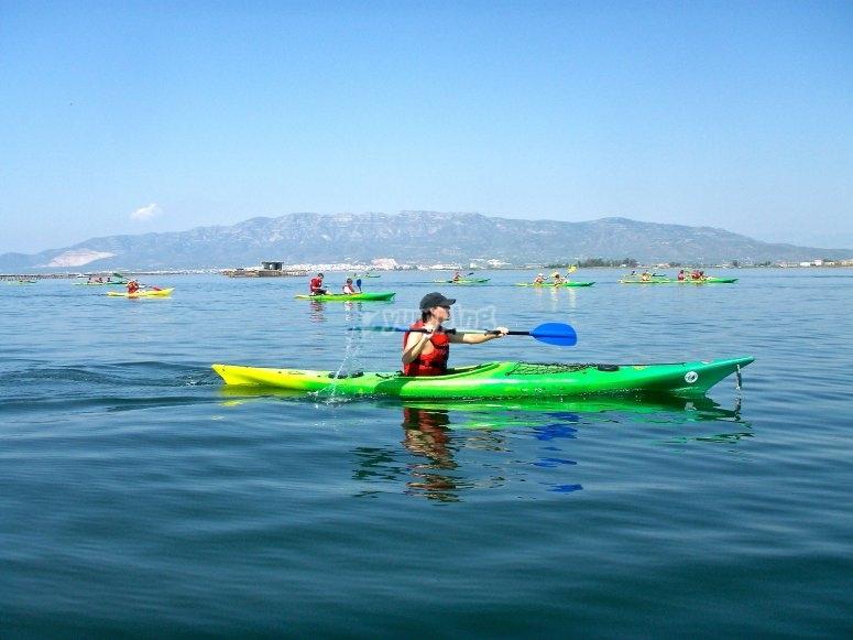 Kayak Bahía de los Alfacs