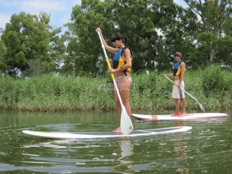 Learning to paddle surf